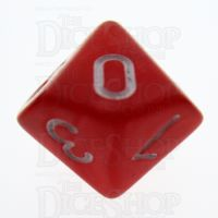 TDSO Pearl Red & White D10 Dice
