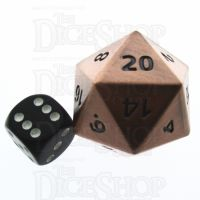 TDSO Metal Antique Copper Finish JUMBO 1/4 POUNDER 34mm D20 Dice