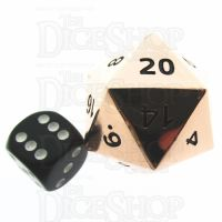 TDSO Metal Polished Copper Finish JUMBO 1/4 POUNDER 34mm D20 Dice