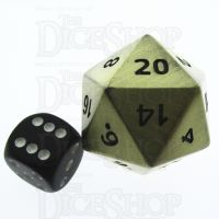 TDSO Metal Antique Gold Finish JUMBO 1/4 POUNDER 34mm D20 Dice
