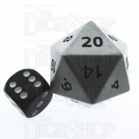 TDSO Metal Antique Silver Finish JUMBO 1/4 POUNDER 34mm D20 Dice