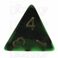 TDSO Duel Black & Green D4 Dice