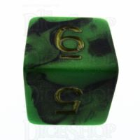 TDSO Duel Black & Green D6 Dice