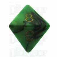 TDSO Duel Black & Green D8 Dice