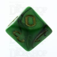 TDSO Duel Black & Green D10 Dice