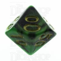 TDSO Duel Black & Green Percentile Dice