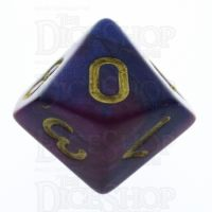 TDSO Duel Purple & Blue D10 Dice