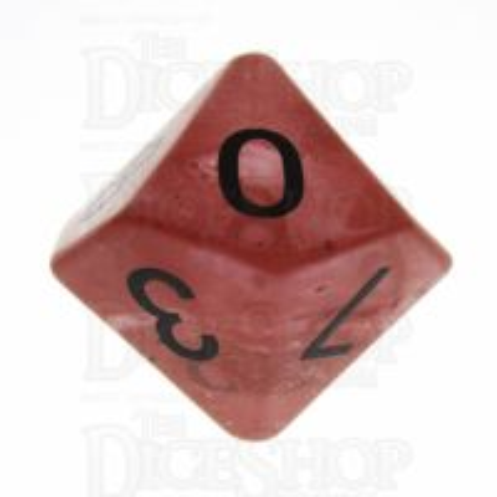 TDSO Quartz Strawberry 16mm Precious Gem D10 Dice