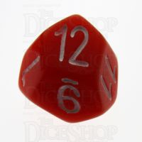 Tessellations Opaque Red Skew D12 Dice