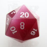 TDSO Cats Eye Pink 16mm Precious Gem D20 Dice