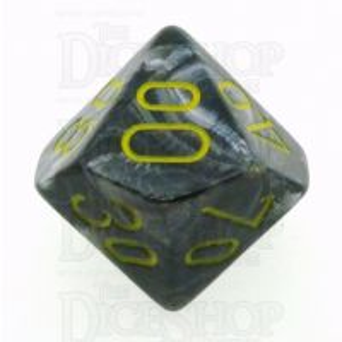 Chessex Vortex Black & Yellow Percentile Dice - Discontinued