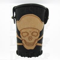 QD Jolly Roger Black Leather Dice Cup