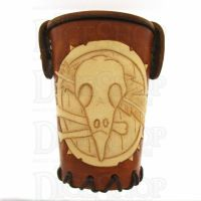 QD Shaman Tan Leather Dice Cup