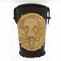 QD Shaman Brown Leather Dice Cup