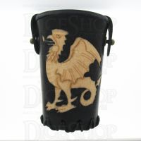 QD Common Cockatrice Black Leather Dice Cup