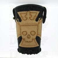 QD Emperors Cross Black Leather Dice Cup