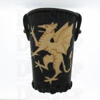 QD Northern Dragon Black Leather Dice Cup