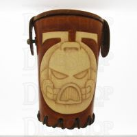 QD Space Marine Tan Leather Dice Cup