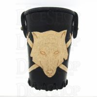 QD Wolf Black Leather Dice Cup