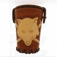 QD Wolf Tan Leather Dice Cup