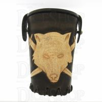 QD Wolf Brown Leather Dice Cup