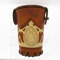 QD Elven Crown Tan Leather Dice Cup