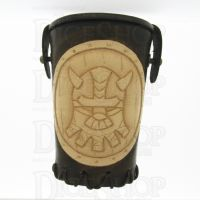 QD Dwarven Brown Leather Dice Cup