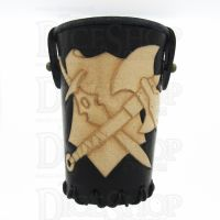 QD Warrior Black Leather Dice Cup