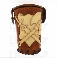 QD Warrior Tan Leather Dice Cup
