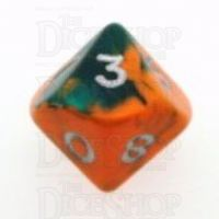 D&G Toxic Chemical Orange & Green D10 Dice