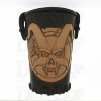 QD Demon Brown Leather Dice Cup