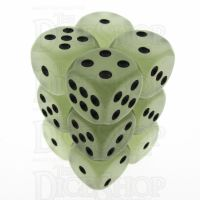 TDSO Frost White Glow in the Dark 12 x D6 Dice Set