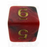 TDSO Duel Black & Red With Gold D6 Dice - Discontinued