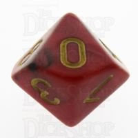 TDSO Duel Black & Red With Gold D10 Dice - Discontinued