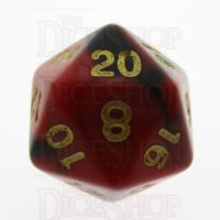 TDSO Duel Black & Red With Gold D20 Dice - Discontinued