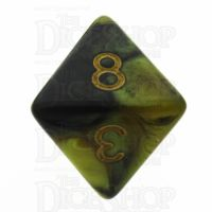 TDSO Duel Black & Gold D8 Dice