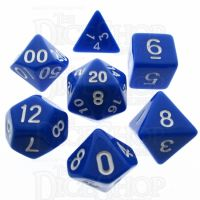 TDSO Opaque Blue 7 Dice Polyset