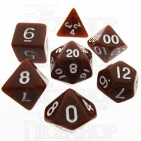 TDSO Opaque Brown 7 Dice Polyset