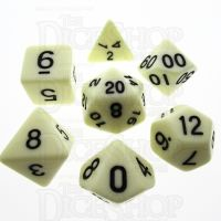 TDSO Opaque Ivory 7 Dice Polyset