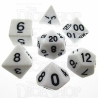 TDSO Opaque White 7 Dice Polyset