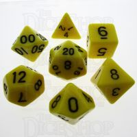 TDSO Opaque Yellow 7 Dice Polyset
