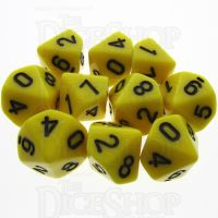 TDSO Opaque Yellow 10 x D10 Dice Set