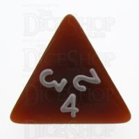 TDSO Opaque Brown D4 Dice