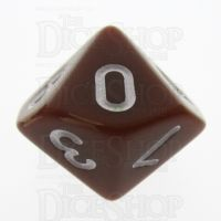 TDSO Opaque Brown D10 Dice