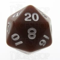 TDSO Opaque Brown D20 Dice