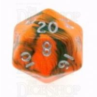 D&G Toxic Chemical Orange & Green D20 Dice