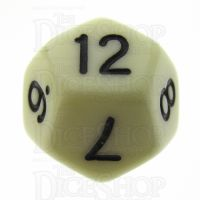 TDSO Opaque Ivory D12 Dice
