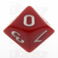 TDSO Opaque Red D10 Dice