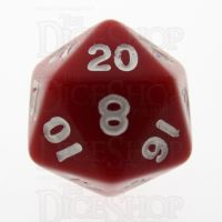 TDSO Opaque Red D20 Dice