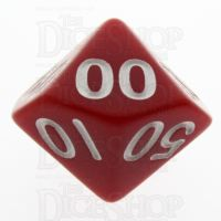 TDSO Opaque Red Percentile Dice